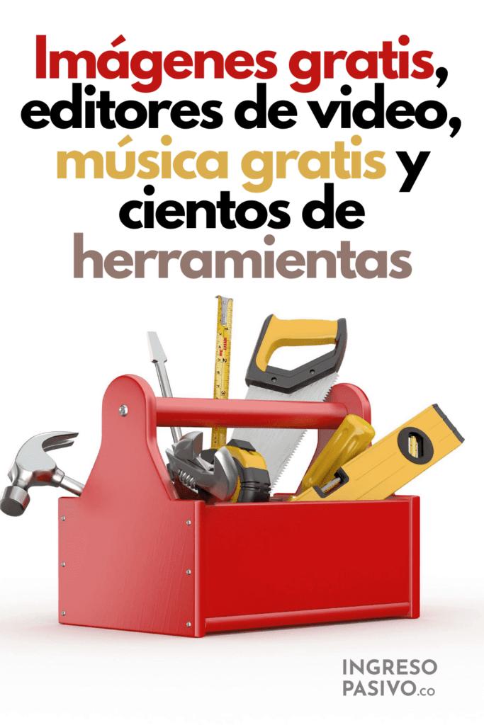 Imágenes gratis, editores de video, música gratis, caja de herramientas