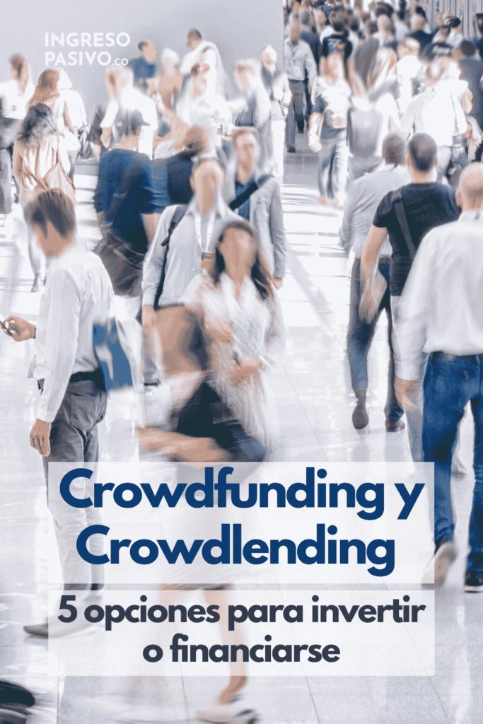 Crowdlending y Crowdfunding tumulto de gente