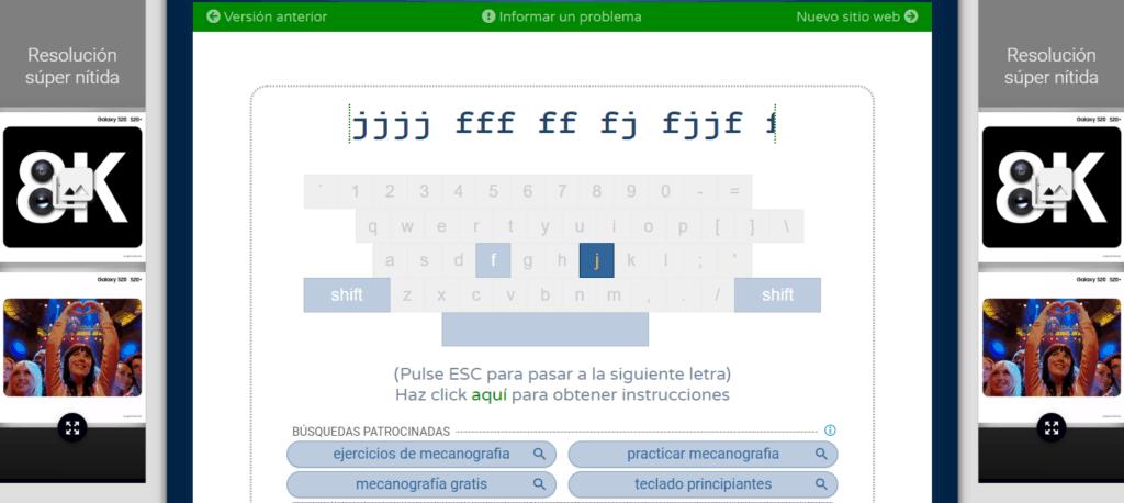 Curso online gratis de mecanografía 2