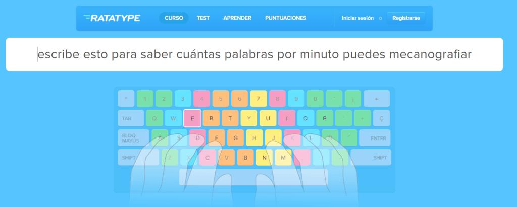 Ratatype Curso online gratis de mecanografía